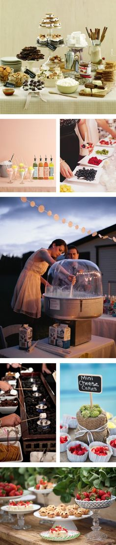 My Wedding Reception Ideas | Blog: Things We Love - Creative Food Stations