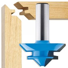 "1-3/4"" Dia. X 3/4"" High x 1/2"" Shank 45 Degree Lock Miter Router Bit - Rockler Woodworking Tools"