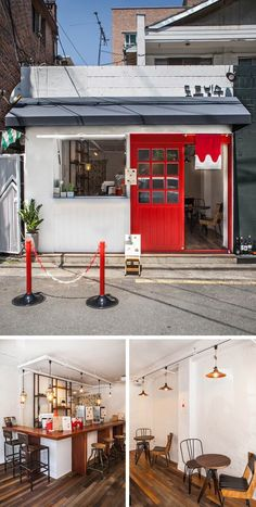 • THE_K 울산,상업공간의 얼굴 시선을 사로잡다! 파사드 디자인 : 네이버 블로그 Food Stall Design, Bakery Design, Cafe Design, My Coffee Shop, Coffee Shop Design, Cafe Interior, Interior And Exterior, Store Signage, Shop Facade
