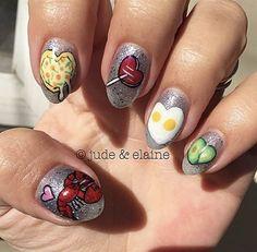 Day Unicorns & More Nail Art Nail Art nail art omaha Food Nail Art, Kawaii Nail Art, Unicorns, You Nailed It, Nail Nail, Beauty, Amp, A Unicorn, Beauty Illustration