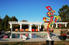 """""""Unbounded Erotica""""...custom outdoor sculpture...welded aluminum painted automotive enamel...10' x 4' x 2'...©Mac Worthington, artist, 2014 For further information on this piece or to discuss a custom design please call 614 