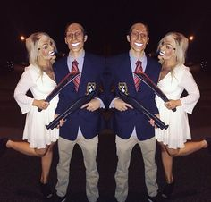 Last years Purge Halloween costume! Everyone loved us! #purge #purgehalloweencostume