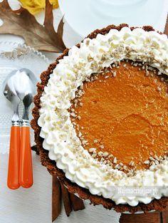 Tarta czekoladowa z dynią #ciasto #tarta #dynia #pumpkin #food #cake