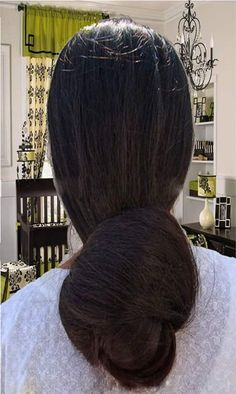 Beautiful Buns, Beautiful Girl Indian, Beautiful Long Hair, Amazing Hair, Bun Hairstyles For Long Hair, Braids For Long Hair, Braided Hairstyles, Long Indian Hair, Long Black Hair