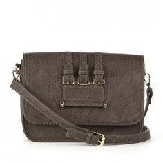SOLE SOCIETY - Women's Nutmeg Vegan Leather Vegan Buckle Messenger | Frankie by Sole Society - also in black - $19.98