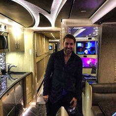 David Garrett in his tour bus.