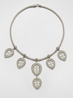 John Hardy - Dot 18K Yellow Gold & Sterling Silver Fringe Bib Necklace