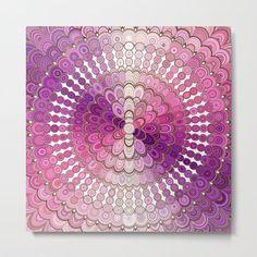 NEW design: Pink and Purple Mandala Flower Wall Tapestry Mandala Print, Flower Mandala, Mandala Pattern, Mandala Design, Flower Canvas, Flower Wall, Diy Design, Wall Design, Mandala Blanket