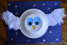 Adorable paper plate owl craft for kids!