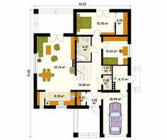 Projekt domu Decyma 7 - rzut parteru