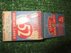 SUNSET BOWLING CENTER 5842 SUNSET BLVD BOWLING SHOWPLACE OF THE WORLD LOS ANGELES MATCHBOOK