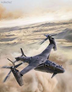 Tilt-rotor (helicopter) illustrated concept art