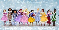 Princesas inverno por * selinmarsou on deviantART