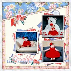Beautiful Darling layout was created using the Carta Bella - Practically Perfect Collection available now at Scrapbook.com. Click for complete supply list. #scrapbookcom