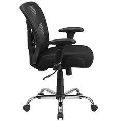 Flash Furniture Hercules Series 400 Lb Capacity Big U0026 Tall Black Mesh  Swivel Task Chair With