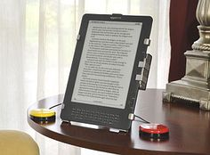 Kindle with switches can help students with physical/motor disabilities navigate through the Kindle. Switches can also be used with pc and laptop computers. The readers can use the switches to change pages and maneuver the other features of the Kindle and computer. These can be used and taken to any area with the readers computer or Kindle. A table or other flat surface would help with convenience.