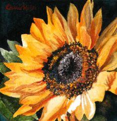 """""""Sunflower"""" - Original Fine Art for Sale - © Carrie Waller"""