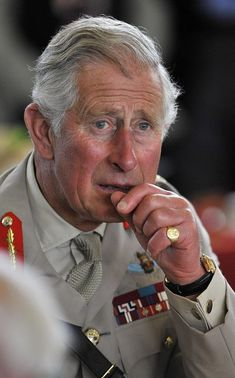 Prince Charles, Prince of Wales, Colonel-in-Chief, Army Air Corps, and Camilla, Duchess of Cornwall (not pictured) attend a lunch with D-day veterans at a community centre during the D Day 70 Commemoration on June 5, 2014