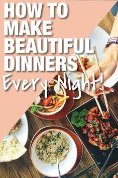 You can have perfect dinners at home every night. This dinner ideas list will blow your mind! #dinnerideas