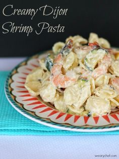 This Creamy Dijon Shrimp Pasta is perfect for a family dinner or an at-home date night!