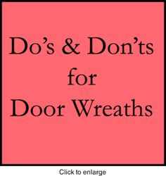 Door Wreath Information