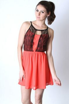 *** New Style ***CHIFFON DRESS OVERLAY LACED TOP & ELASTIC WAIST. FULLY LINED.