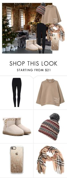 """""""Untitled #63"""" by jaykate on Polyvore featuring MANGO, UGG, Dorothy Perkins and Burberry"""