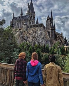 Wizarding World of Harry Potter Wallpaper & Aesthetic - Ron, Harry, Hermione cosplay Parque Do Harry Potter, Mundo Harry Potter, Draco Harry Potter, Harry Potter Tumblr, Harry Potter Gifts, Harry Potter Pictures, Harry Potter Movies, Harry Potter World, Golden Trio