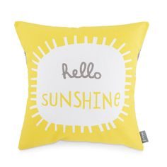 Hello Sunshine  Cushion by FreyaArt on Etsy