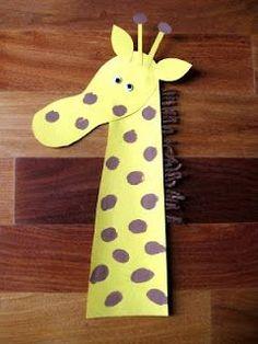 free giraffe craft idea for kids
