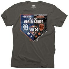 SF Giants vs. Detroit Tigers 2012 World Series Dueling Matchup Shirt, get ready for the action!