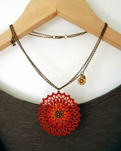 Aztec Sun Necklace by Un Jardín De Hilo, via Flickr