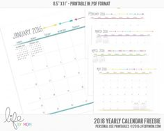 FREE 2016 MONTHLY CALENDAR » Life By Mom