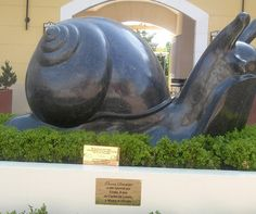 Bronze scupture - public art, snail.