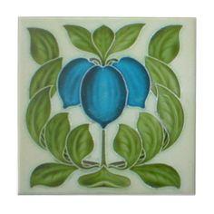 AN034 Art Nouveau Reproduction Antique Tile