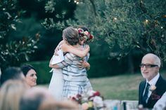close moment hug bride mother father wedding bride child
