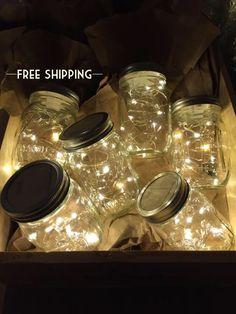 Firefly lichten en Mason Jar Outdoor Lightning rustieke