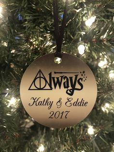 A personal favorite from my Etsy shop https://www.etsy.com/listing/558313157/custom-harry-potter-christmas-ornament