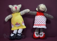 Girl Cate and Girl Monkey - Little Cotton Rabbits