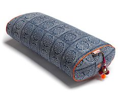 I LOVE all of these bolsters from chattra. Navy Bandhani Oval Yoga Bolster