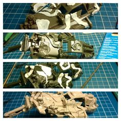 Building the Mini 4WD Hot Shot Military camo custom - painting the camo