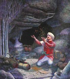Había una vez un señor que se llamaba Alí Babá y que tenía un hermano que se llamaba Kassim. Alí Babá era honesto, trabajador, bueno, leñad...