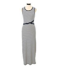 cross front striped maxi, NAVY/WHITE
