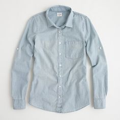 Factory perfect shirt in faded chambray