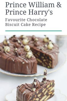 Prince William and Prince Harry's Favourite Chocolate Biscuit Cake recipe recipes Chef to Prince Charles and Princess Diana Releases Cookbook Köstliche Desserts, Delicious Desserts, Dessert Recipes, Healthy Desserts, Food Cakes, Best Cake Recipes, Sweet Recipes, Recipe For Cakes, Chocolate Biscuit Cake