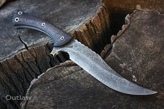 """Handcrafted blade FOF """"Outlaw"""" full tang modern bowie knife"""
