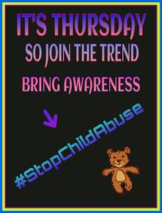Artwork submitted by a supporter on twitter for our (Thursday = #StopChildAbuse)