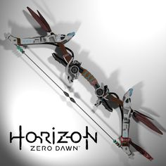 Aloy's War Bow from Horizon Zero Dawn, Théo Domon Horizon Zero Dawn Aloy, Horizon Zero Dawn Cosplay, Bow Drawing, Animal Costumes, Fantasy Weapons, 3d Character, Guerrilla, Post Apocalyptic, Best Games