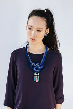 Josephine Knot Necklace  Fall-Winter Accessories Cobalt by nad205