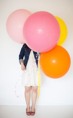 """had an idea - put a question in each balloon and play a game called """"pop the question"""" at a bridal shower..."""